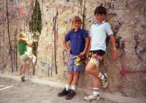 Brayne Kids at the Opened Berlin Wall 1990
