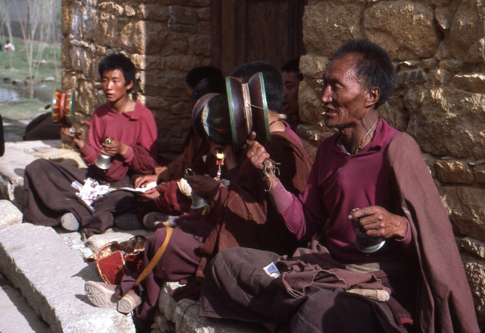 Monks at the Potala Palace