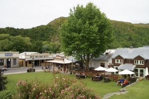 Main Street in Arrowtown, with the New Orleans Hotel whence this post.