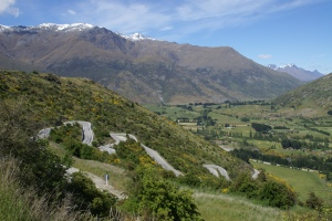 Winding Hairpins up towards Crown Range