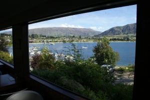 View over the Lake from Wanakabakpaka, surely the best-named hostel on the planet, where Kat worked on reception in her early months in NZ