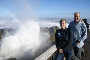 Pancake Rocks at Punakaiki May 2011, when the waves were ever so slightly higher