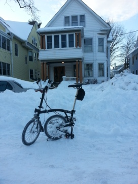 Bruce's Brompton in NY snow Feb 2013