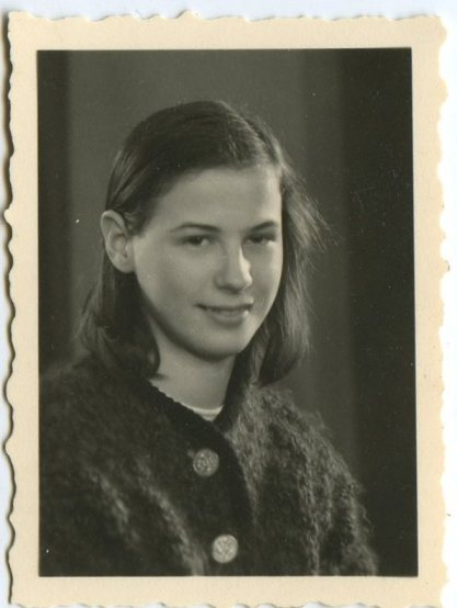 Jutta, schoolgirl in Vilsbiburg, Bavaria