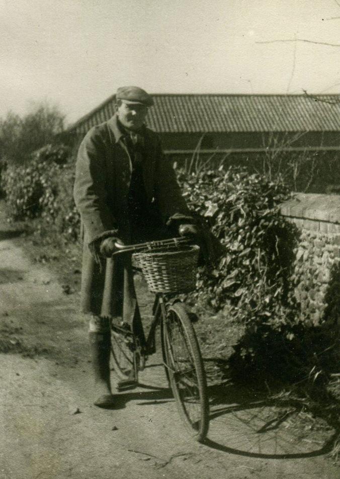 Thomas on bicycle Old Hall Farm