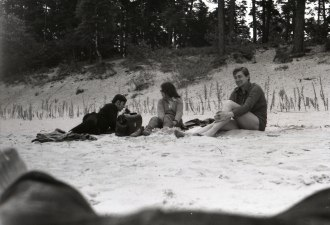 Alyosha, Clare and friend, photographed by my on Jurmala beach May 1972. The last time we were here.