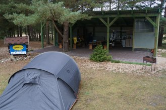 Magical campsite at Bernati, Latvia.