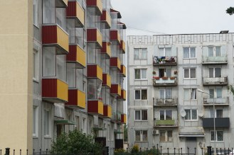 Very slowly, the Baltic states are restoring what they can of their grim Soviet architectural legacy. The old flats can look quite nice when done up.
