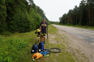 The jolting gave us four front wheel punctures in one day.