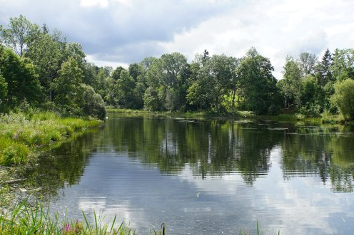 Bucolic Latvian landscape.