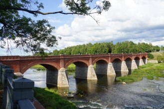 And its longest brick road bridge, also Kuldiga